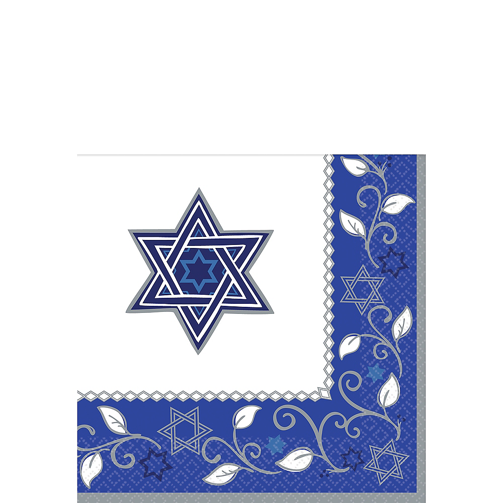 Nav Item for Joyous Holiday Passover Beverage Napkins 16ct Image #1