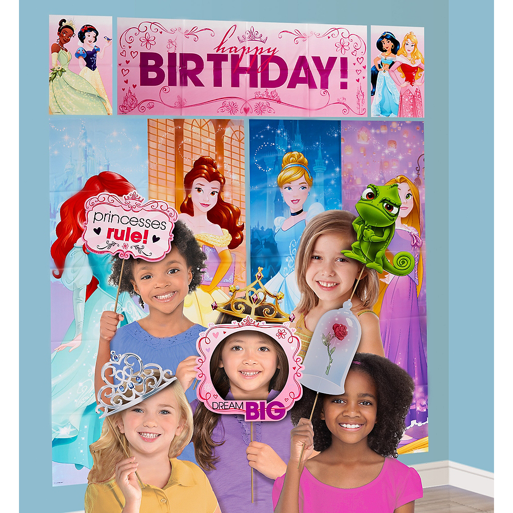 Disney Princess Scene Setter with Photo Booth Props Image #1