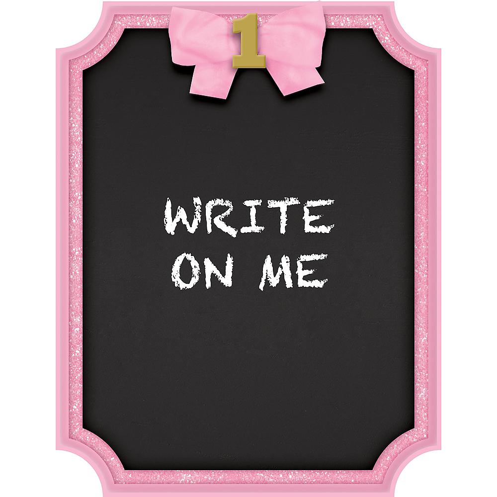 Glitter Pink Border Chalkboard Easel Sign Image #1