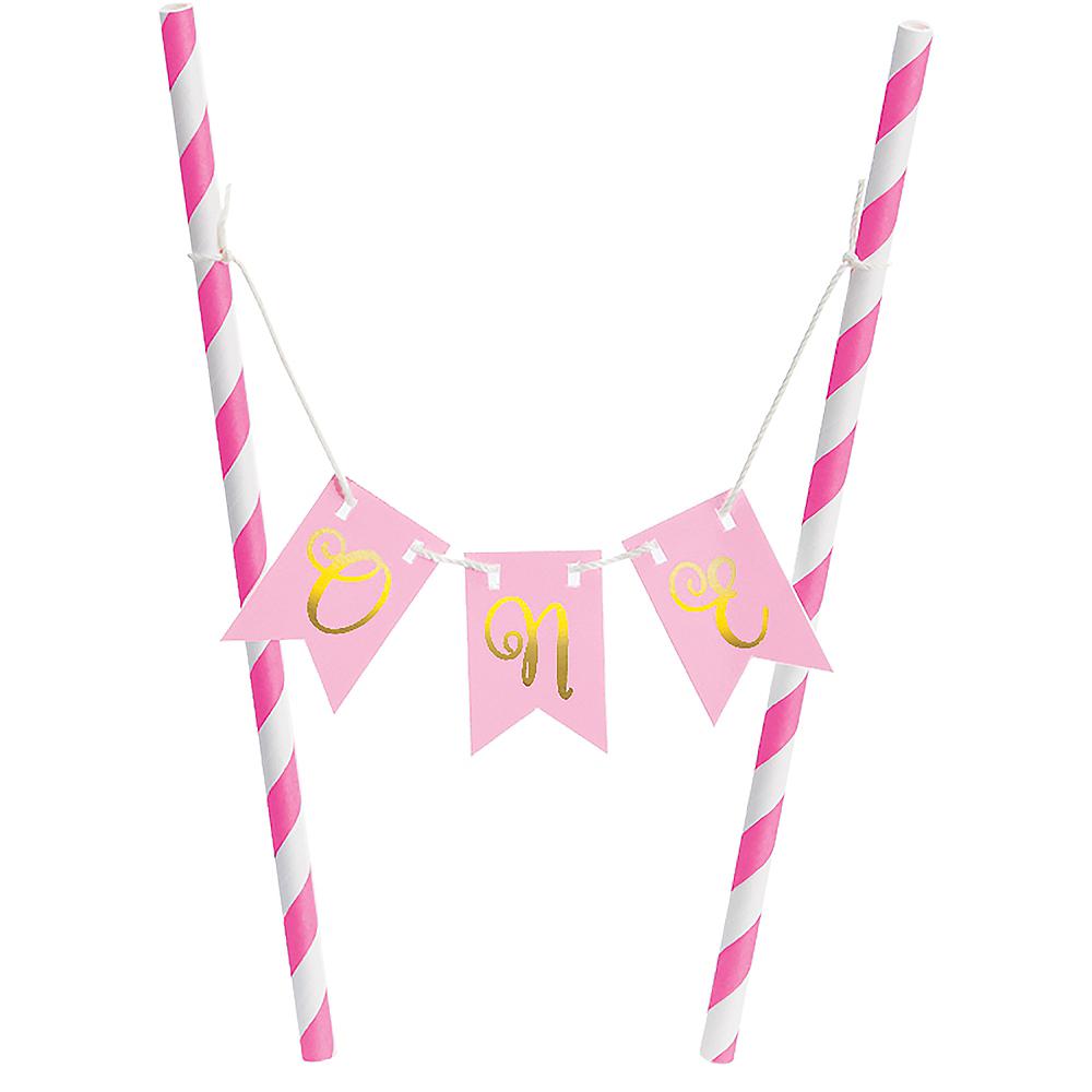 Mini Pink 1st Birthday Cake Stand Kit 2pc Image #3
