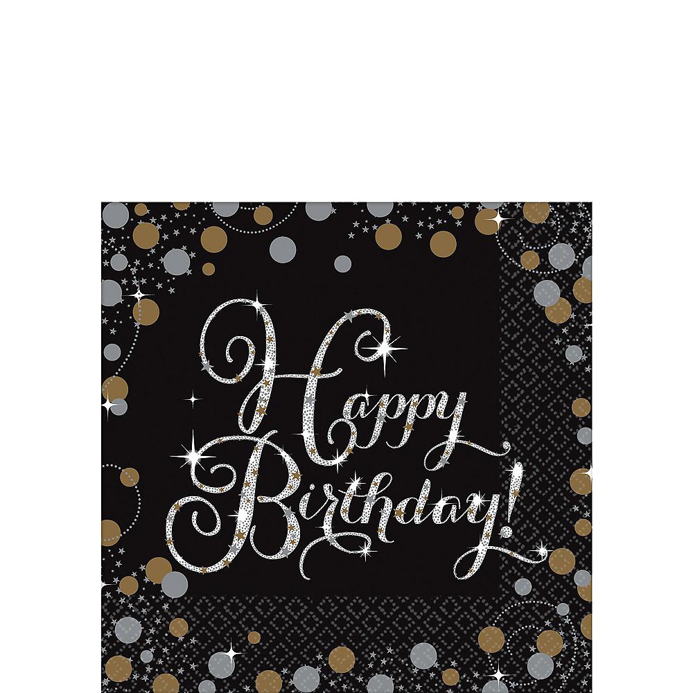 Happy Birthday Beverage Napkins 16ct - Sparkling Celebration Image #1