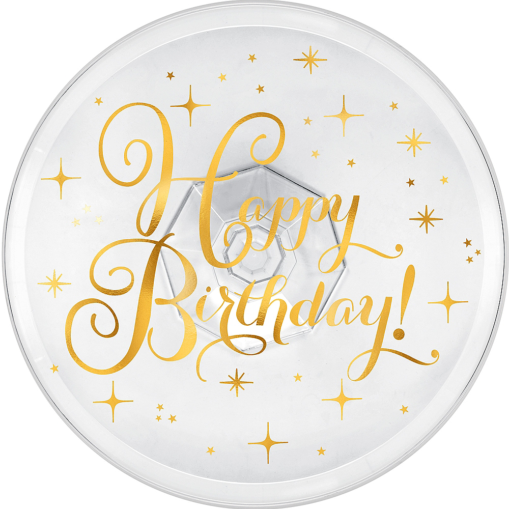Metallic Gold Birthday Cake Stand Image #2