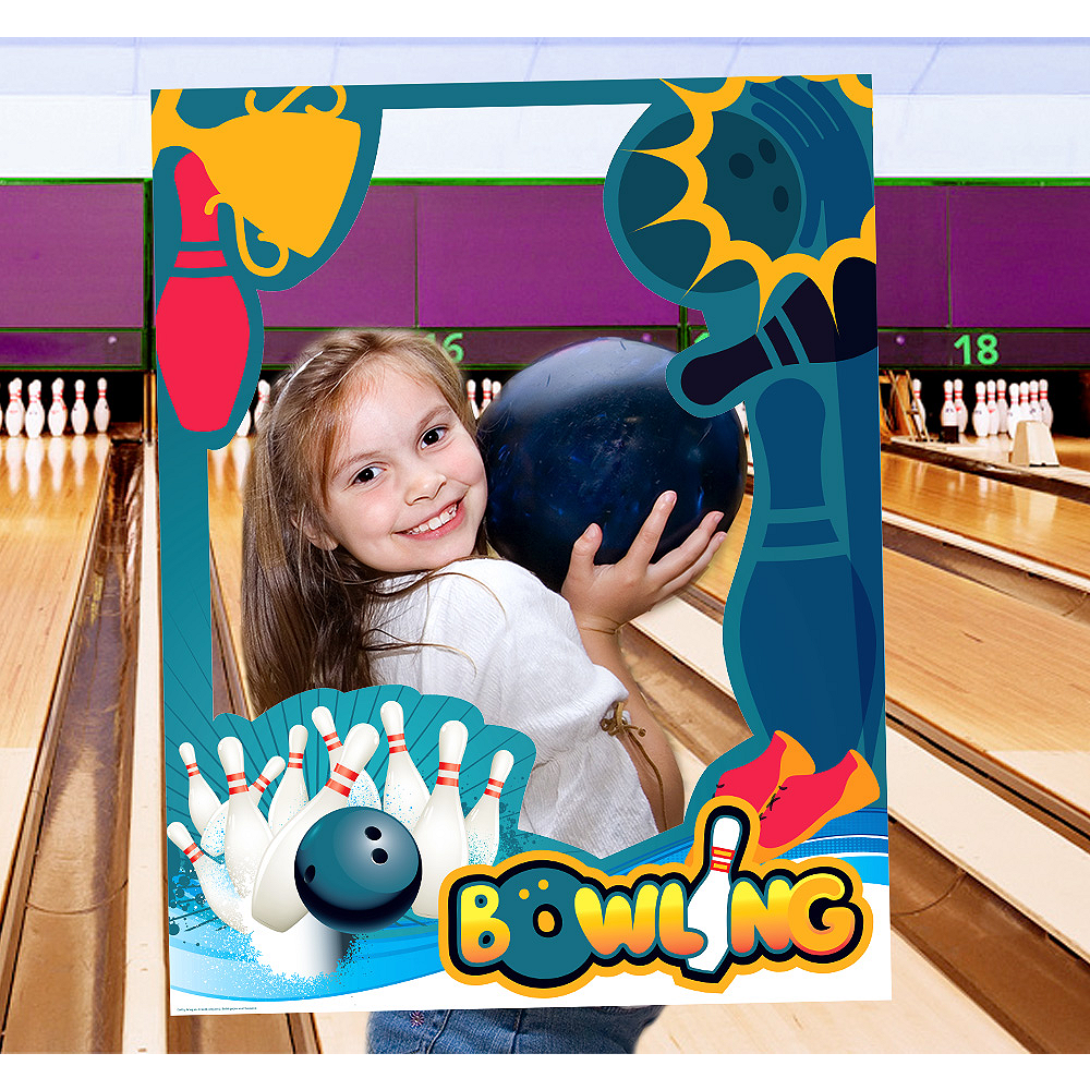 Giant Bowling Photo Booth Frame Image #1