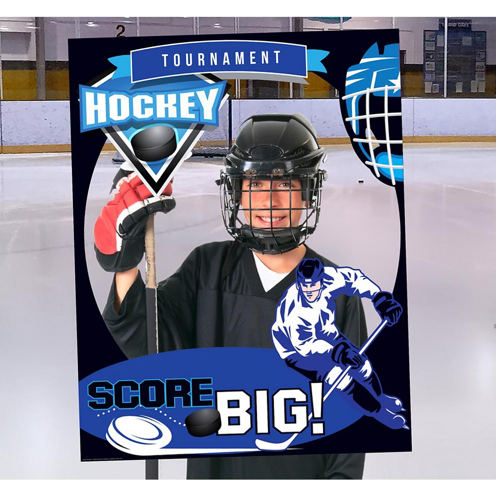Giant Hockey Photo Booth Frame Image #1