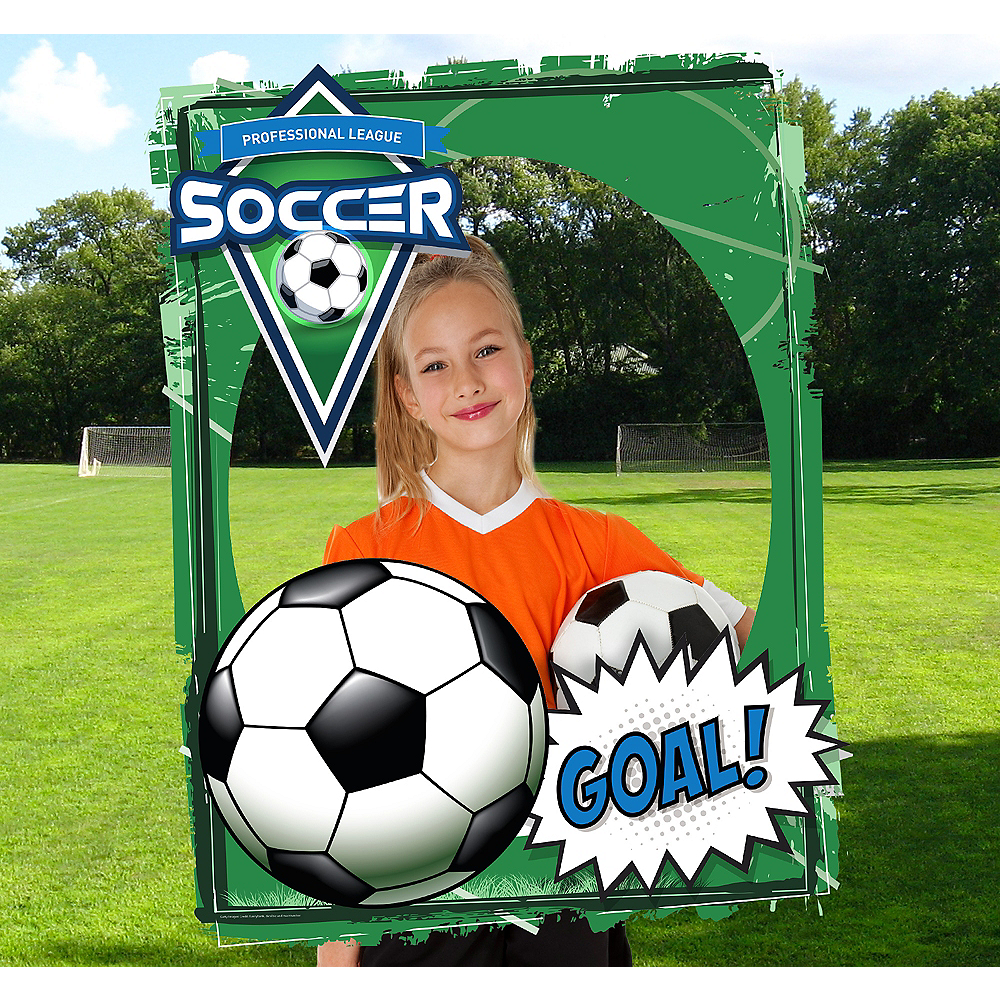 Giant Soccer Photo Booth Frame Image #1