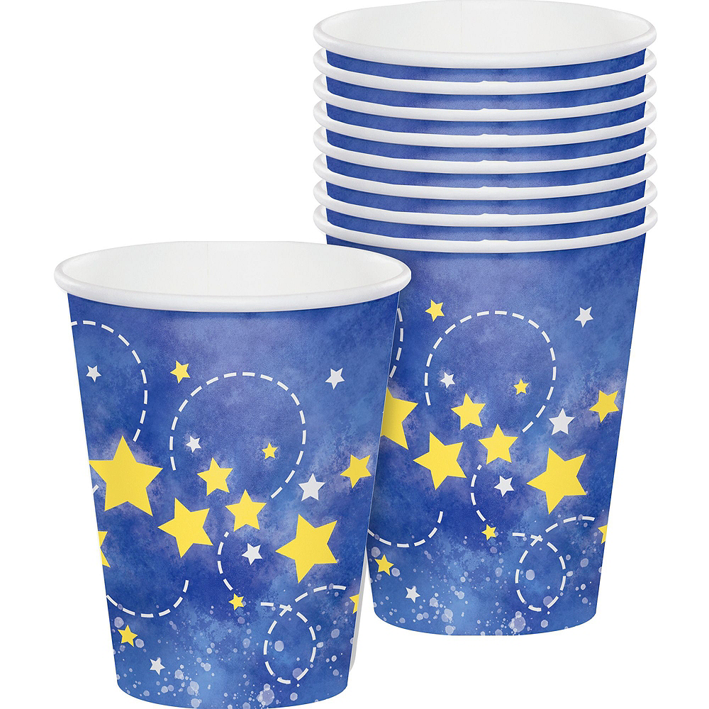 Moon & Stars Premium Baby Shower Tableware Kit for 16 Guests Image #7