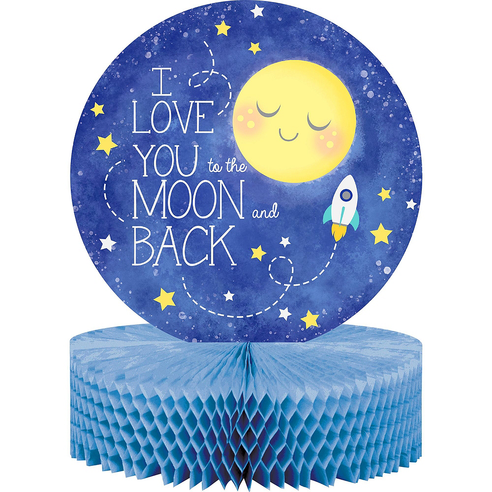 Moon & Stars Premium Baby Shower Tableware Kit for 16 Guests Image #9