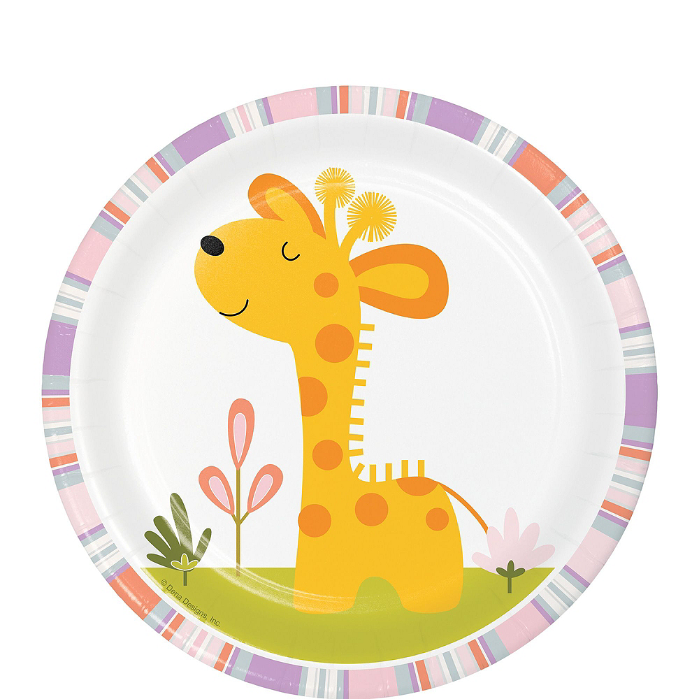 Happy Jungle Giraffe Premium Baby Shower Tableware Kit for 16 Guests Image #2