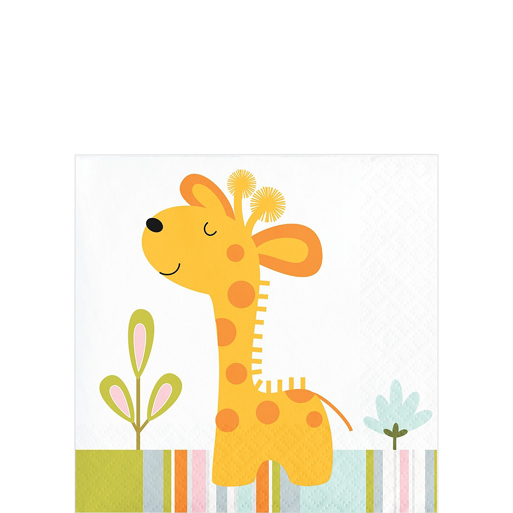 Happy Jungle Giraffe Premium Baby Shower Tableware Kit for 16 Guests Image #4
