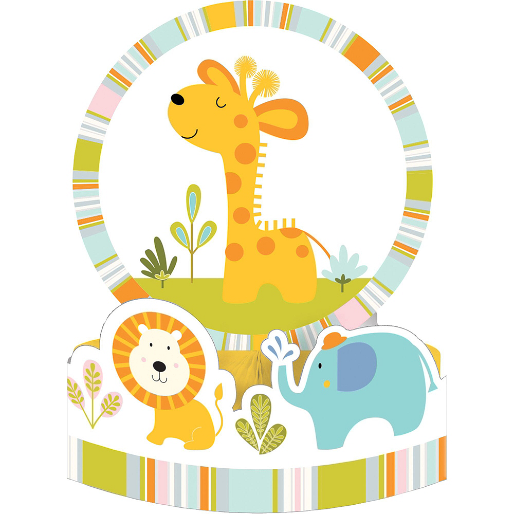 Happy Jungle Giraffe Premium Baby Shower Tableware Kit for 16 Guests Image #9