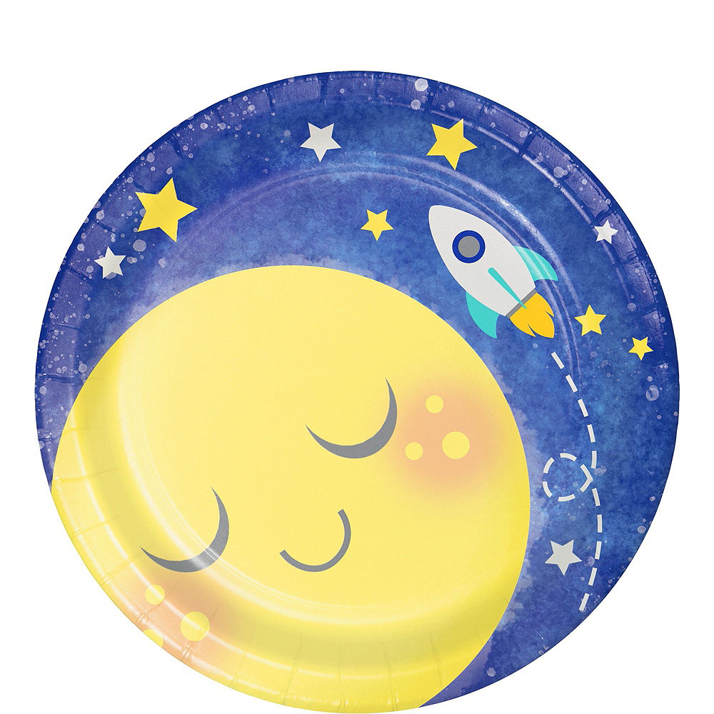 Moon & Stars Premium Baby Shower Tableware Kit for 32 Guests Image #2
