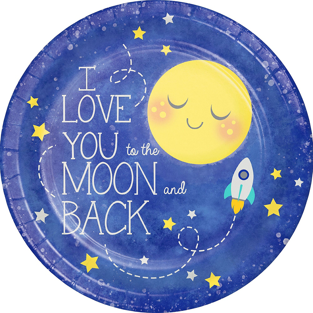 Moon & Stars Premium Baby Shower Tableware Kit for 32 Guests Image #4