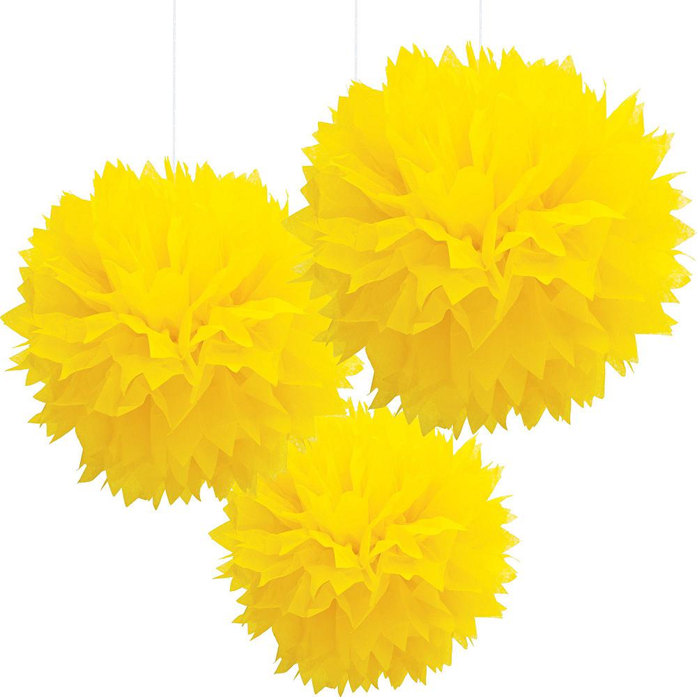 Moon & Stars Sunshine Yellow Decorations Shower Kit Image #3