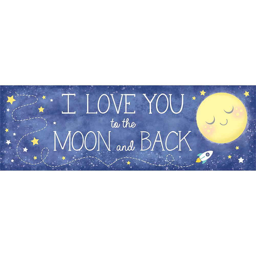Moon & Stars Sunshine Yellow Decorations Shower Kit Image #4