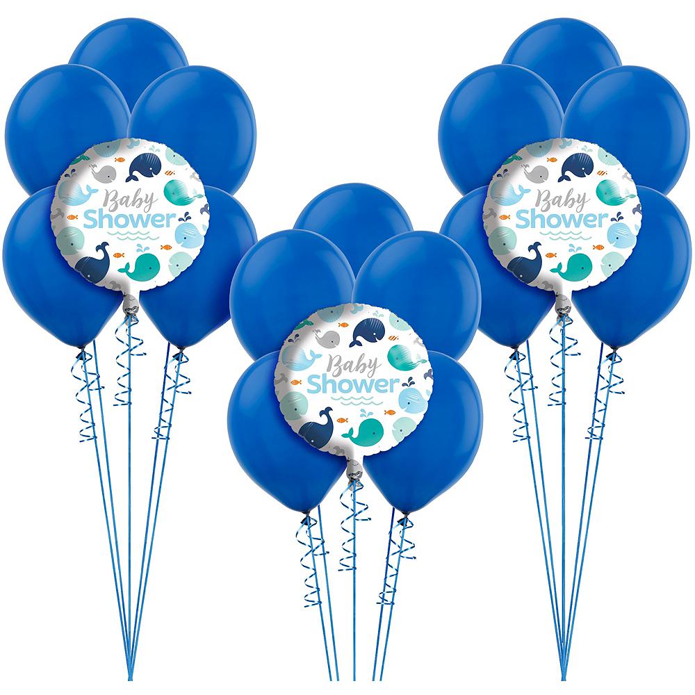 Blue Baby Whale Baby Shower Balloon Kit Image #1