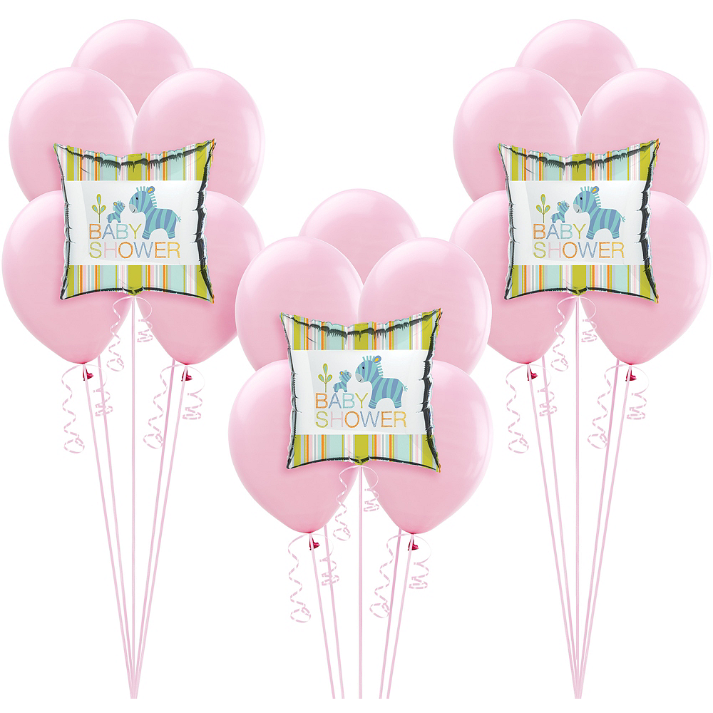 Happy Jungle Girl Baby Shower Balloon Kit Image #1