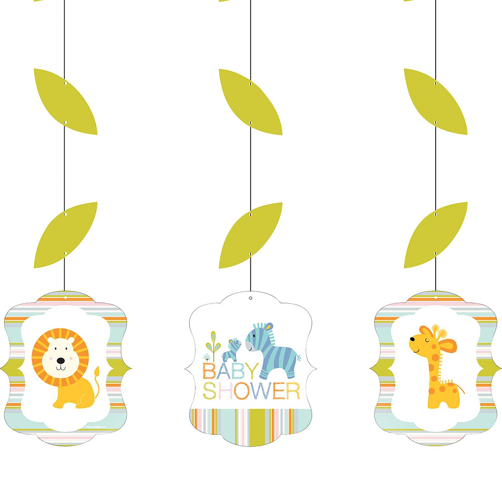 Happy Jungle Giraffe Premium Baby Shower Party Kit for 32 Guests Image #9