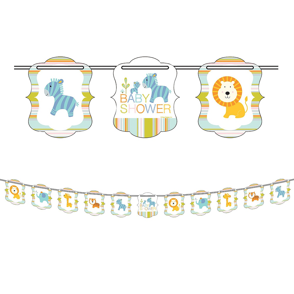 Happy Jungle Giraffe Premium Baby Shower Party Kit for 32 Guests Image #11
