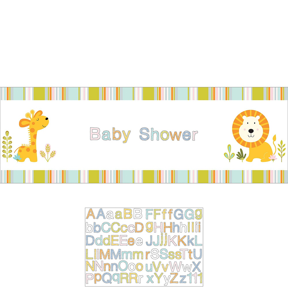 Happy Jungle Giraffe Premium Baby Shower Party Kit for 32 Guests Image #12