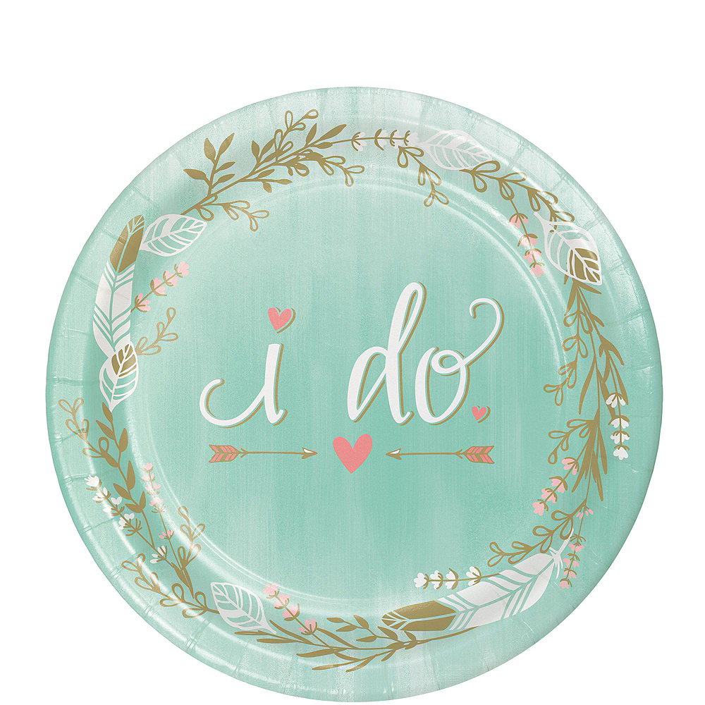 Mint To Be Bridal Shower Tableware Kit for 32 Guests Image #2