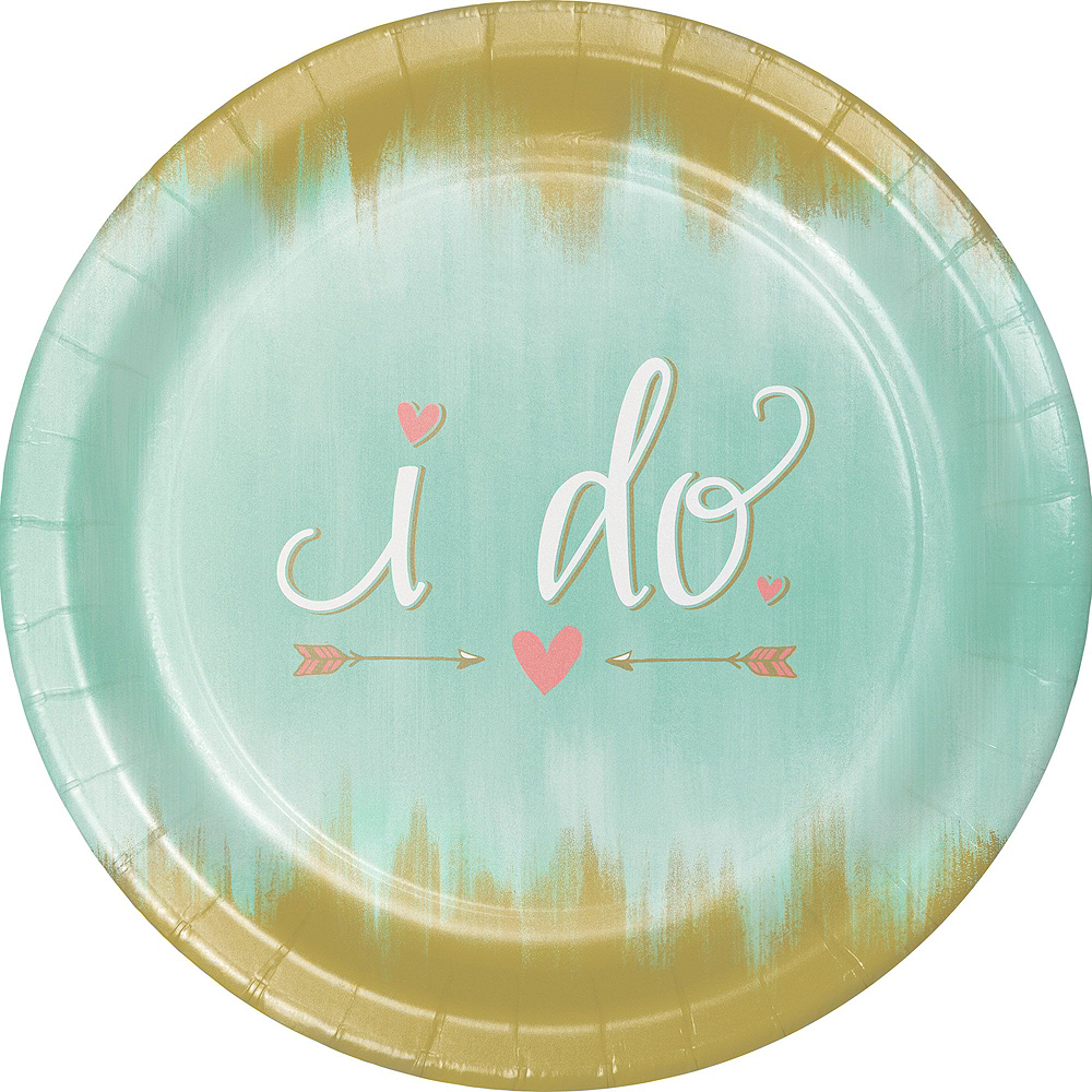 Mint To Be Bridal Shower Tableware Kit for 32 Guests Image #3