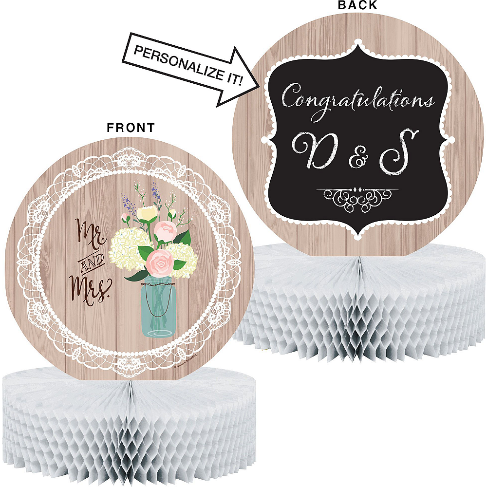 Rustic Wedding Bridal Shower Tableware Kit for 32 Guests Image #9
