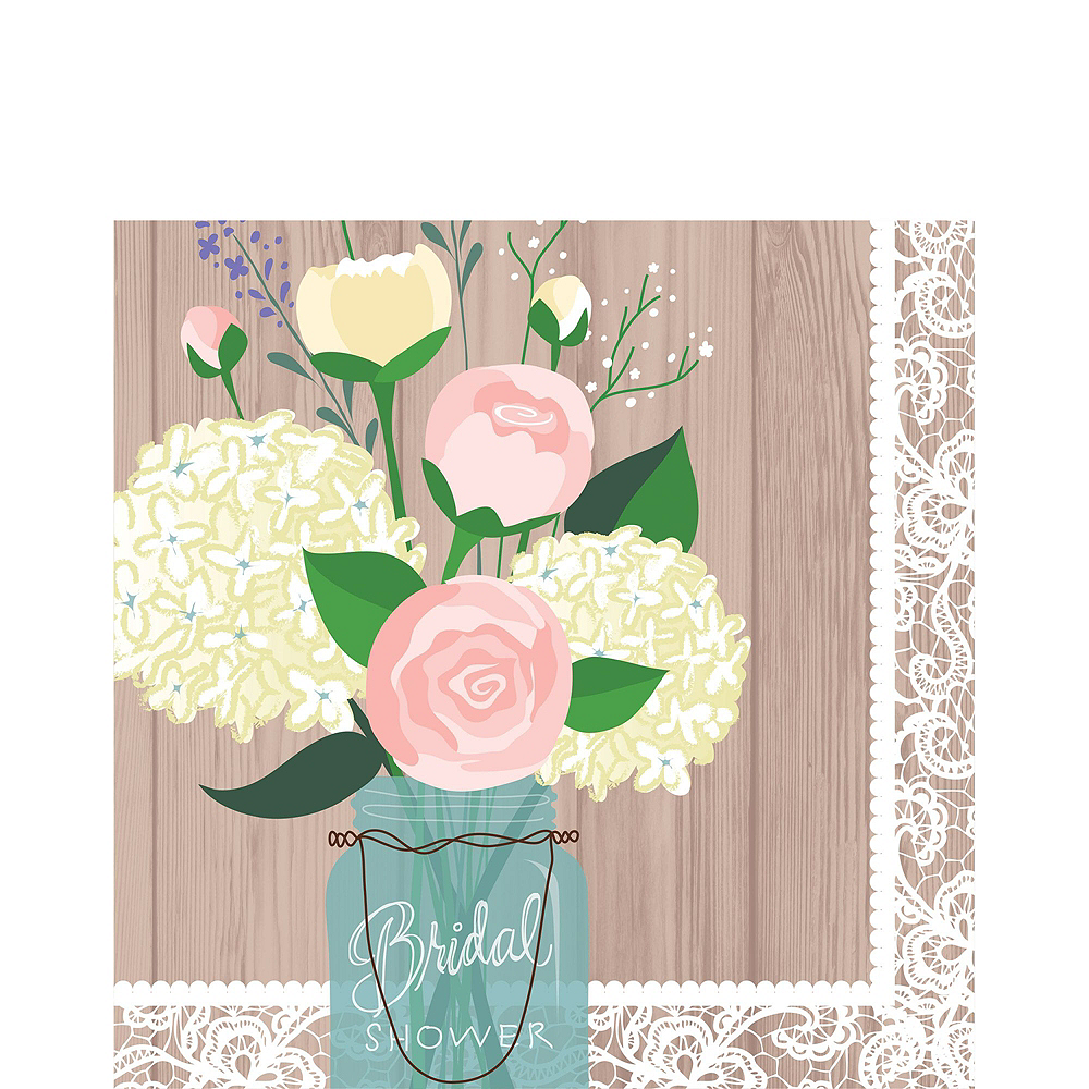 nav item for rustic wedding bridal shower tableware kit for 100 guests image 5
