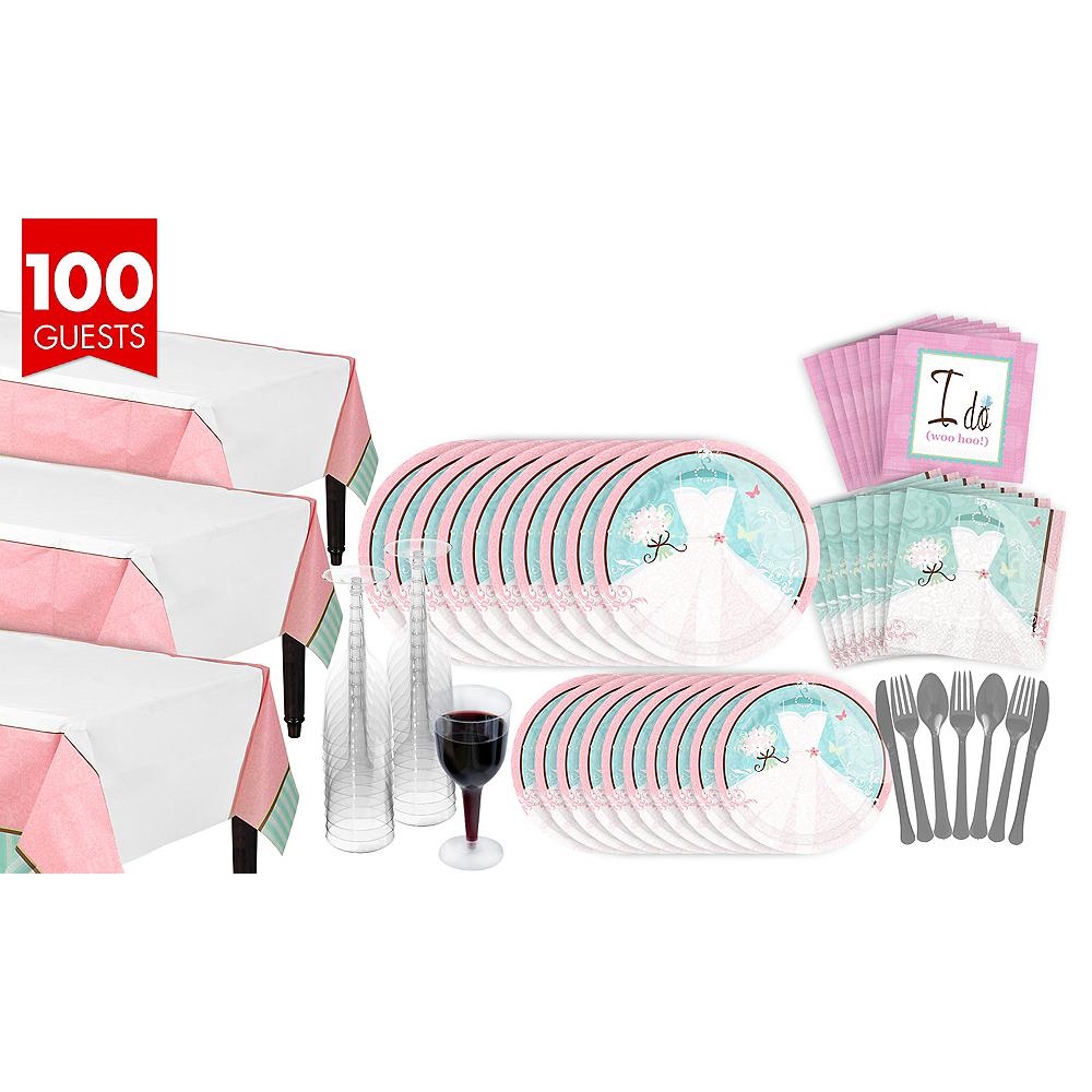 nav item for something blue bridal shower tableware kit for 100 guests image 1
