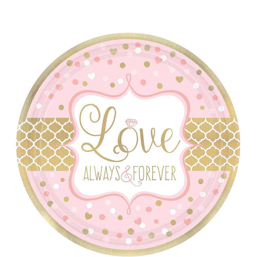 Sparkling Pink Wedding Bridal Shower Tableware Kit for 32 Guests Image #2