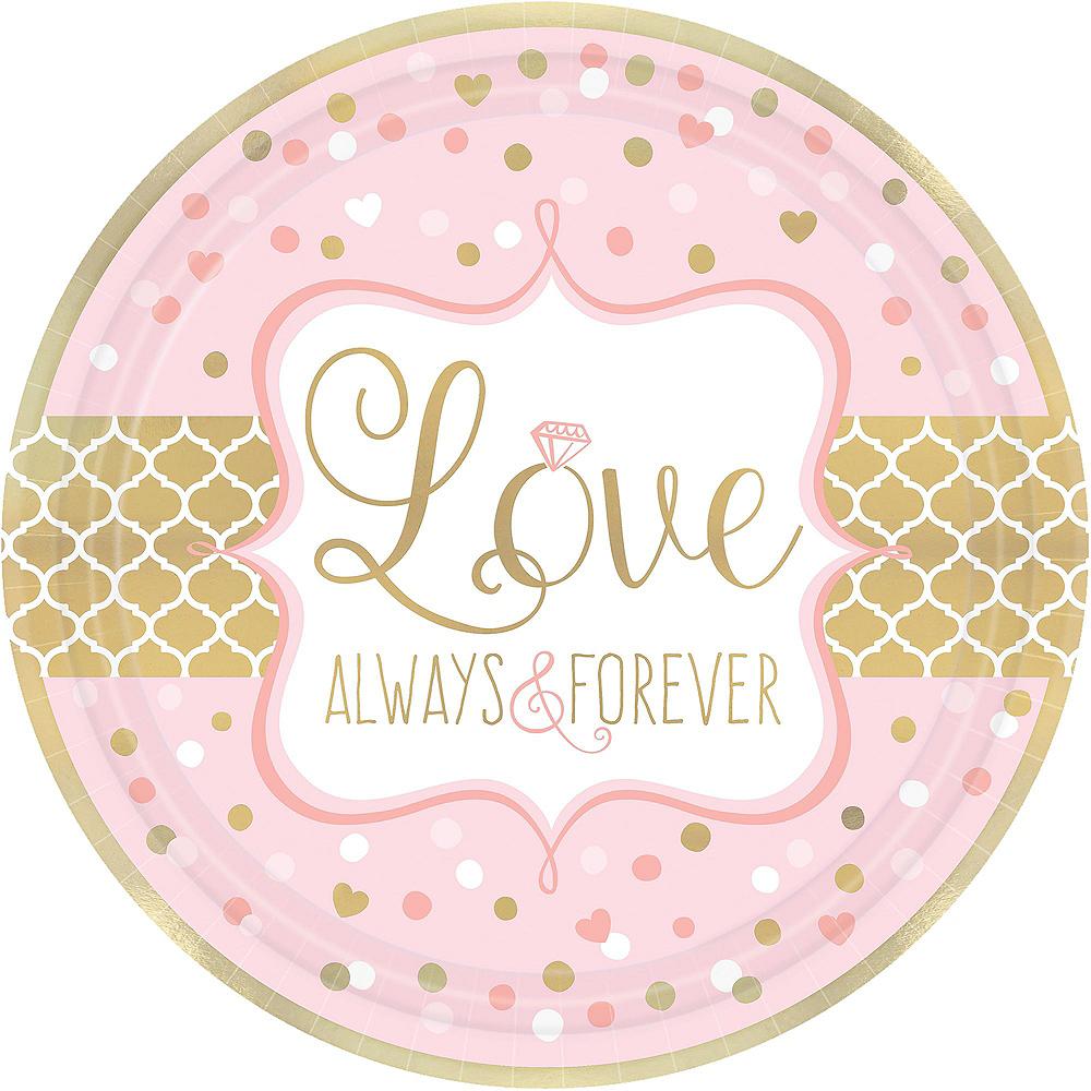 Sparkling Pink Wedding Bridal Shower Tableware Kit for 32 Guests Image #3