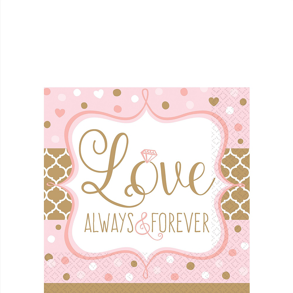 Sparkling Pink Wedding Bridal Shower Tableware Kit for 32 Guests Image #4