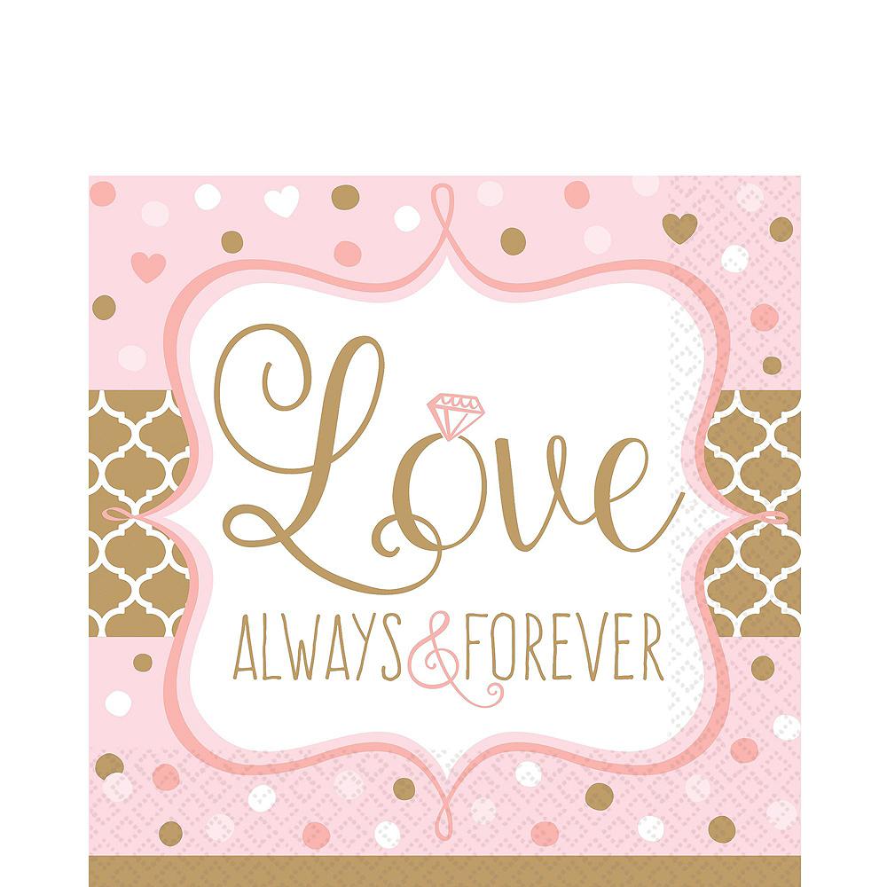 Sparkling Pink Wedding Bridal Shower Tableware Kit for 32 Guests Image #5