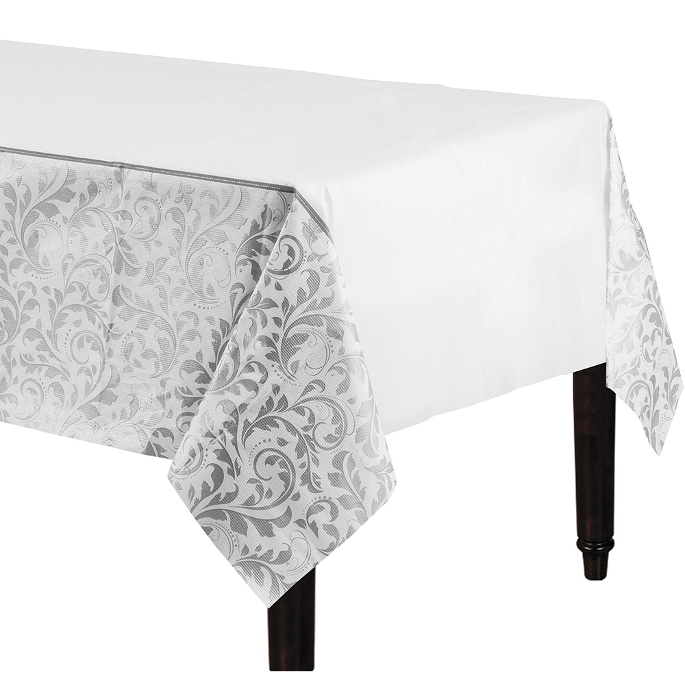Silver Wedding Bridal Shower Tableware Kit for 36 Guests Image #6