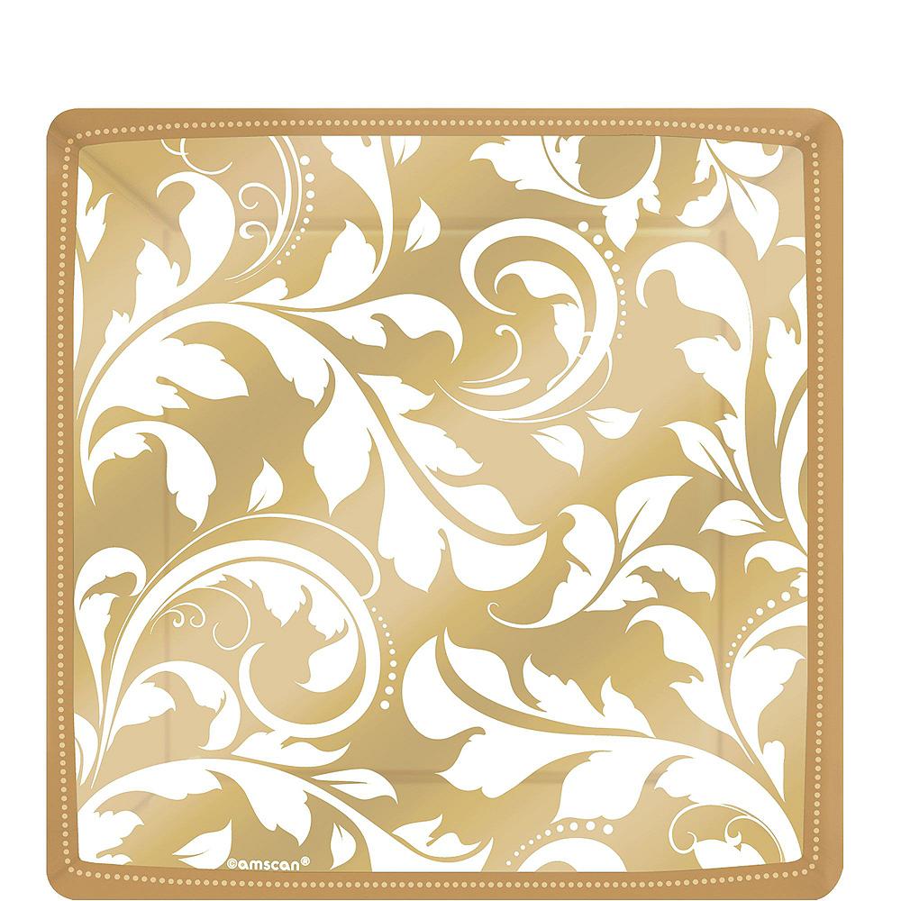 Golden Wedding Bridal Shower Tableware Kit for 36 Guests Image #2