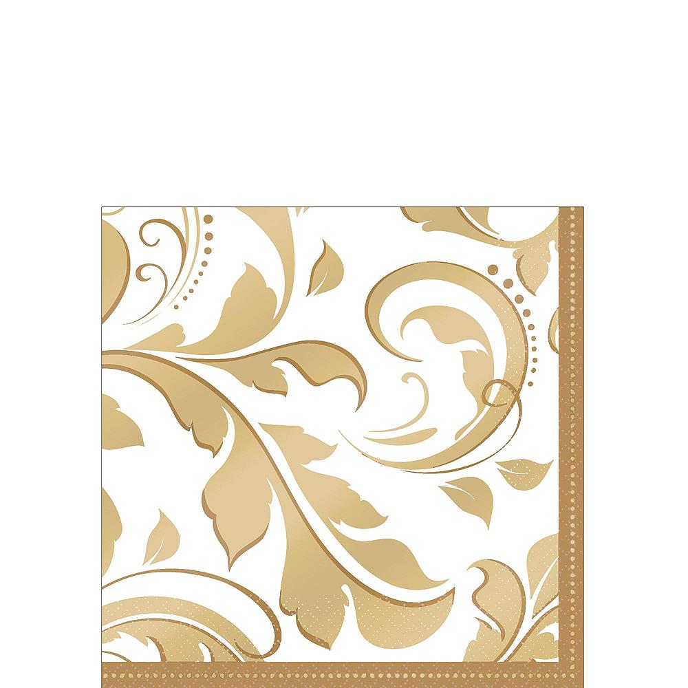 Golden Wedding Bridal Shower Tableware Kit for 36 Guests Image #6