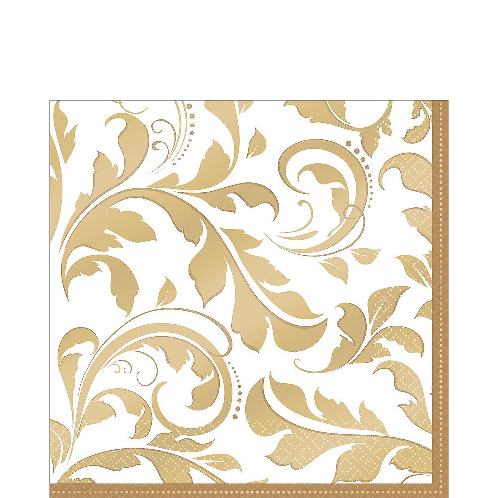 Golden Wedding Bridal Shower Tableware Kit for 36 Guests Image #7