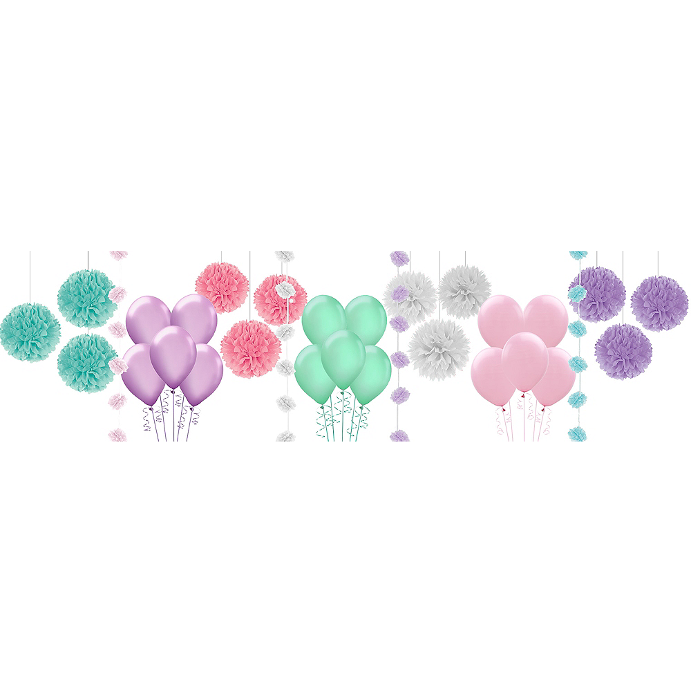 nav item for watercolor floral bridal shower decorating kit with balloons image 1