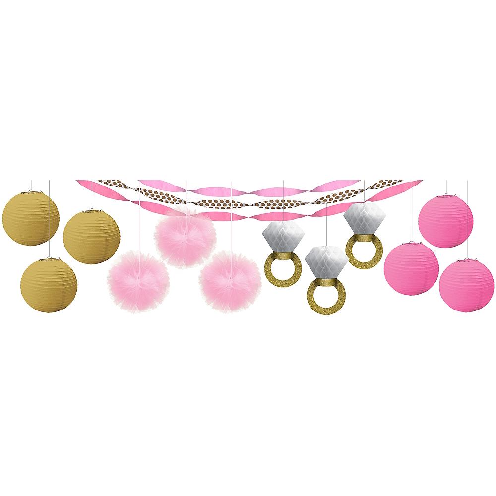 Pink Sparkling Celebration Bridal Shower Decorating Kit Image #1