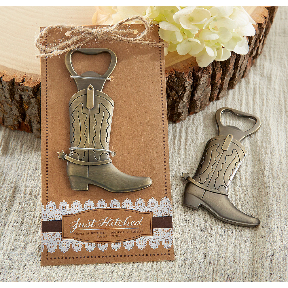 Just Hitched Cowboy Boot Bottle Opener Image #1