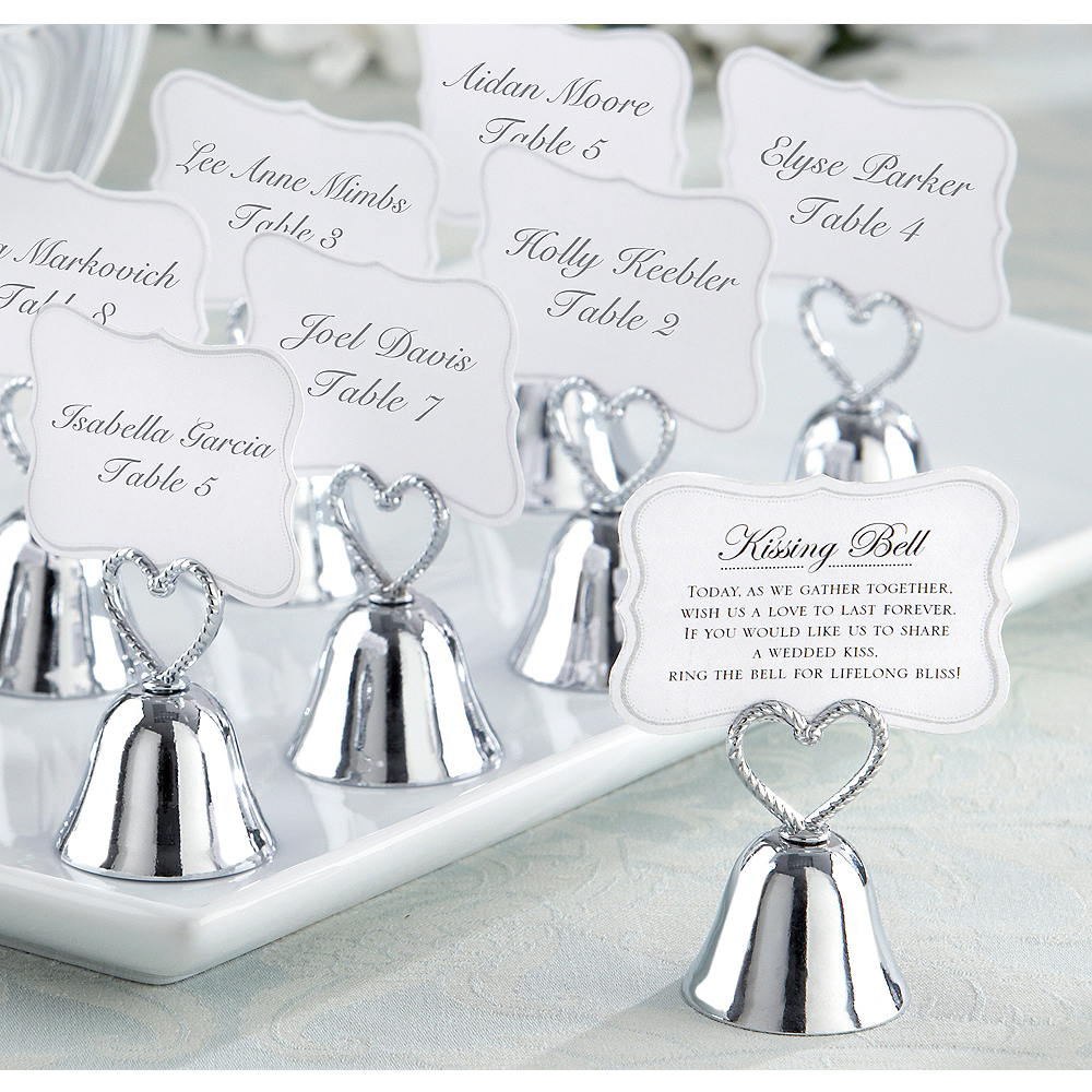 Kissing Bell Place Card Holders 24ct Image #1