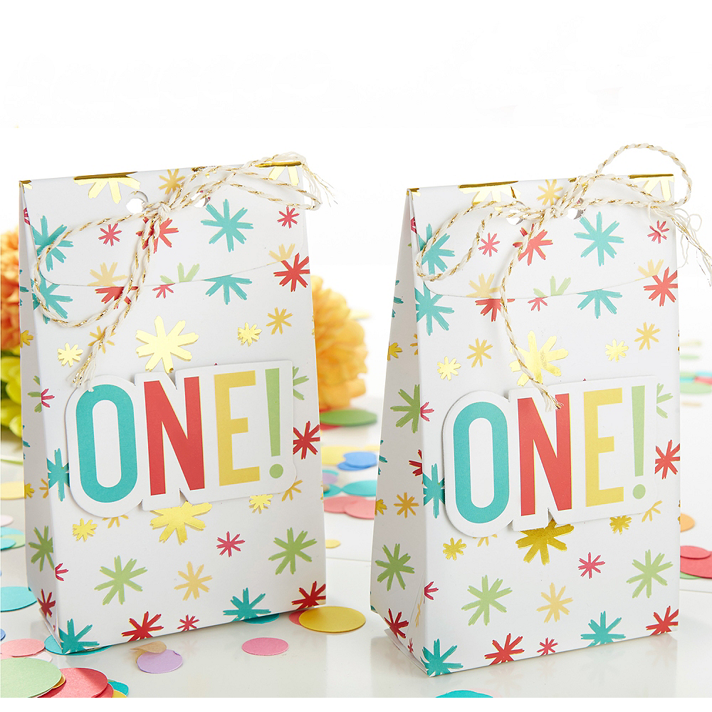 1st Birthday Tall Treat Boxes 24ct Image #1