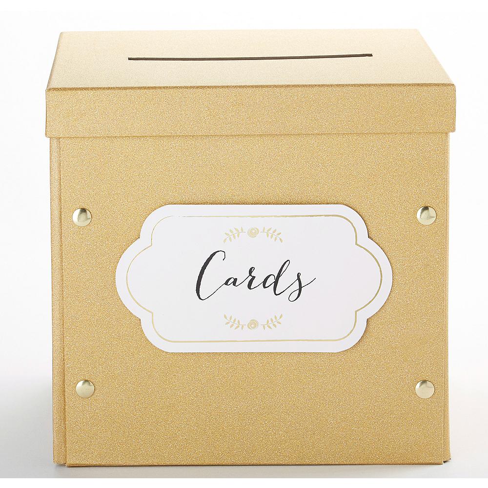 Glitter Gold Card Box Image #1