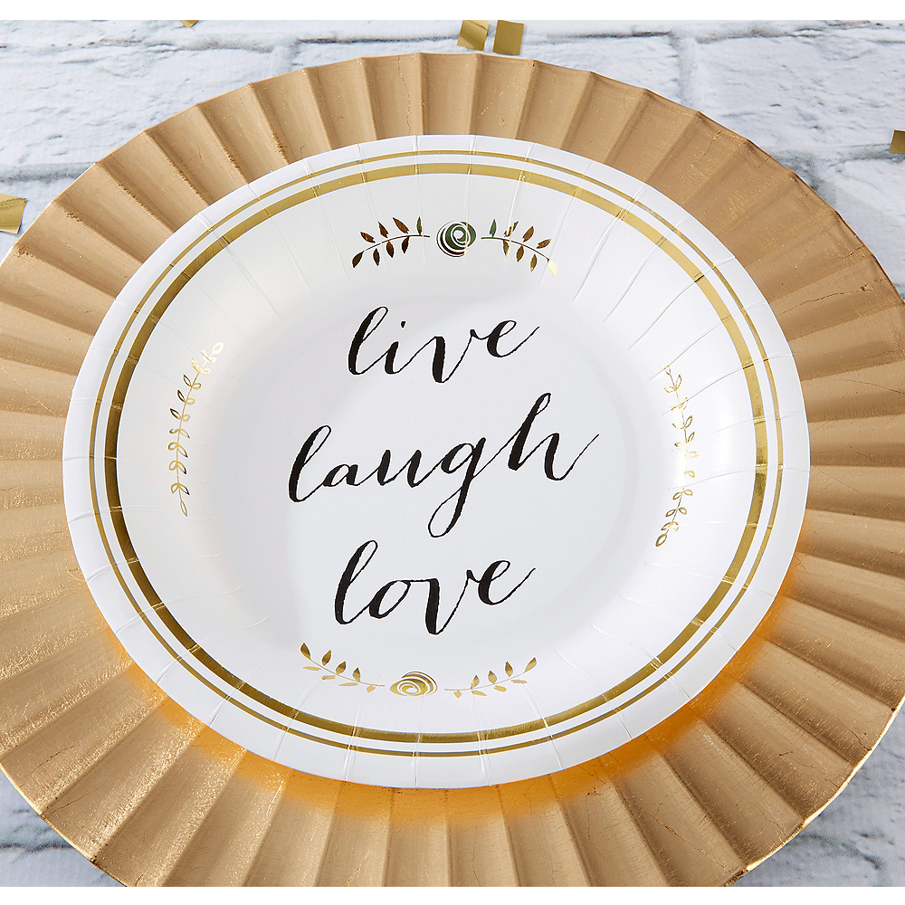 Live, Laugh, Love Lunch Plates 8ct Image #1