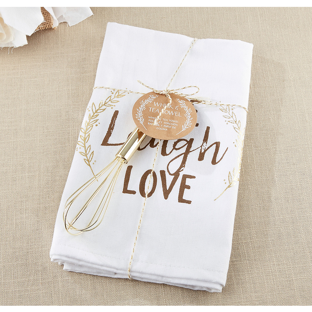Live, Laugh, Love Towel & Whisk Image #1
