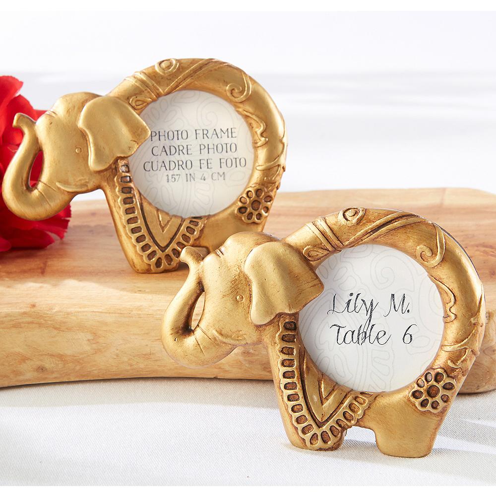 Gold Lucky Elephant Frame Image #1