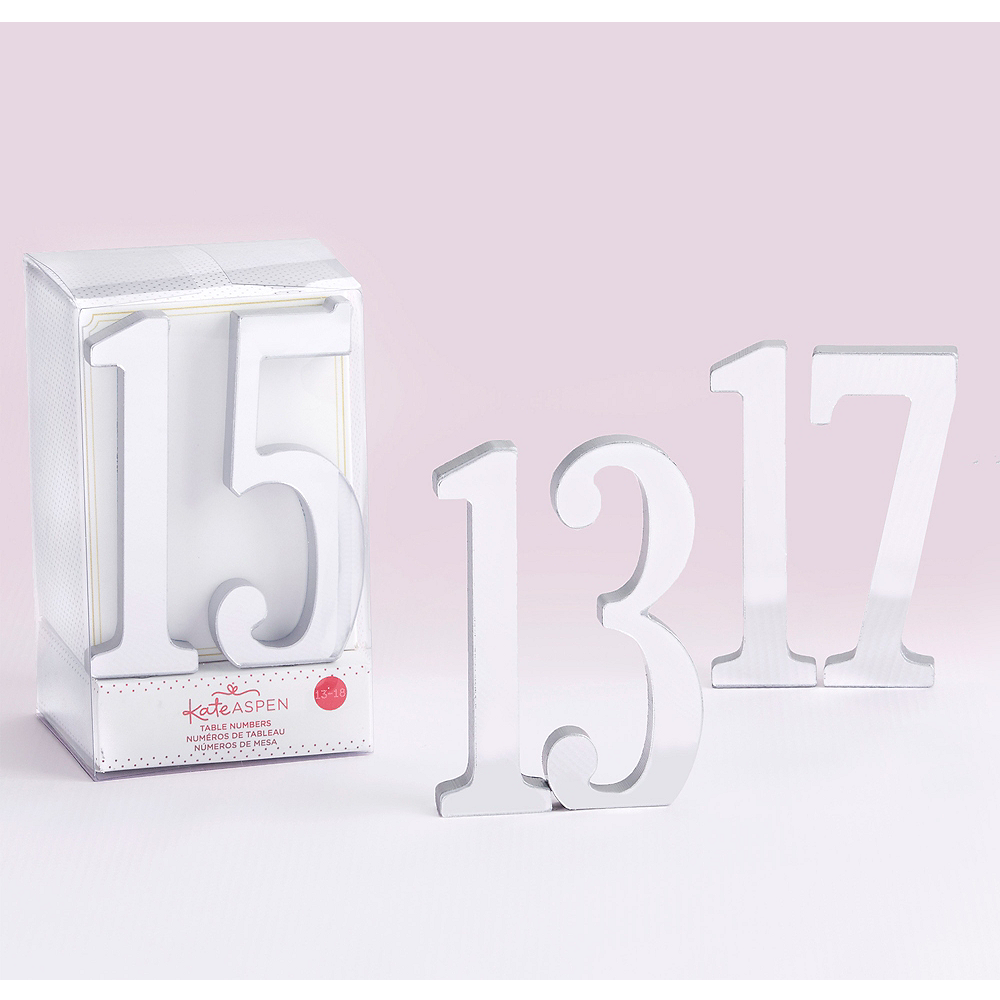 Nav Item for Mirrored Silver Table Numbers 13-18 Image #1