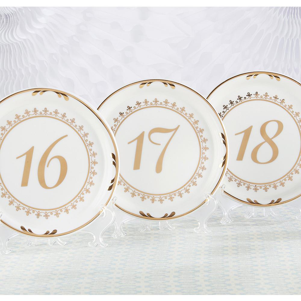 Tea Time Plate Table Numbers 13-18 Image #1