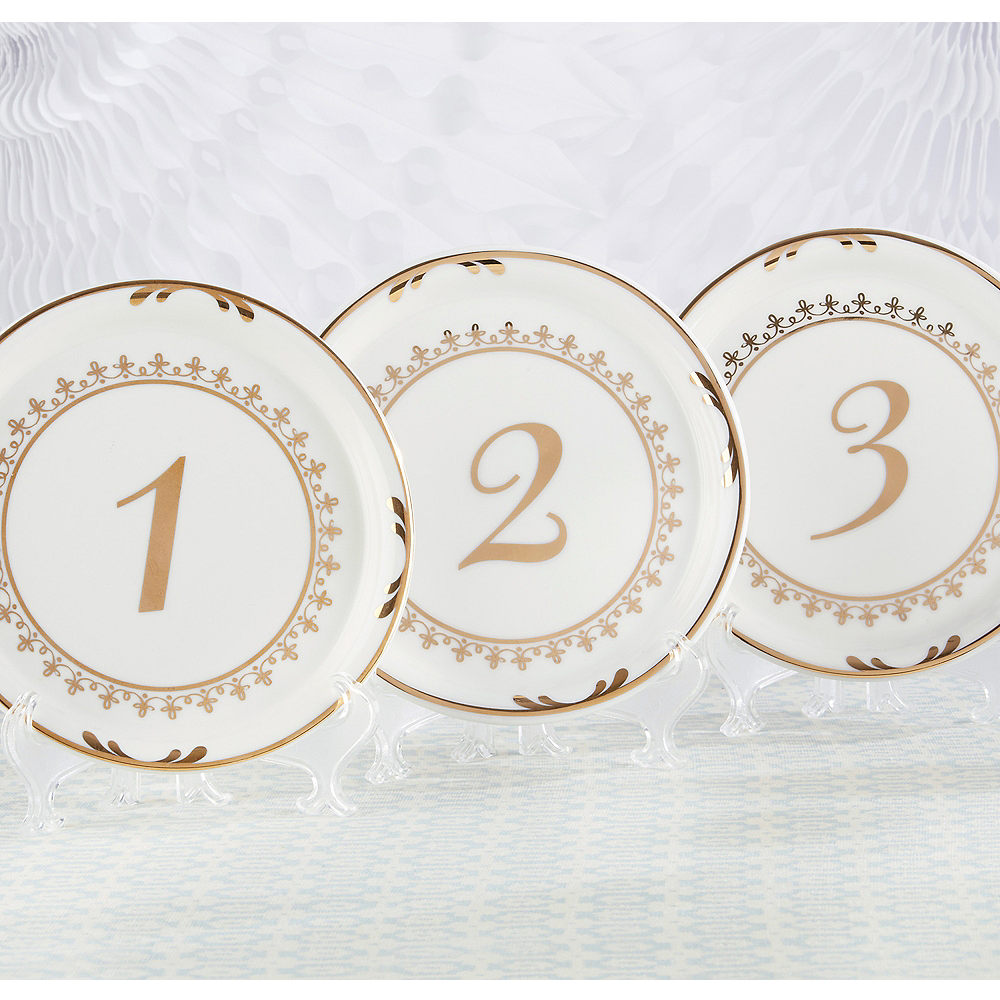 Tea Time Plate Table Numbers 1-6 Image #1