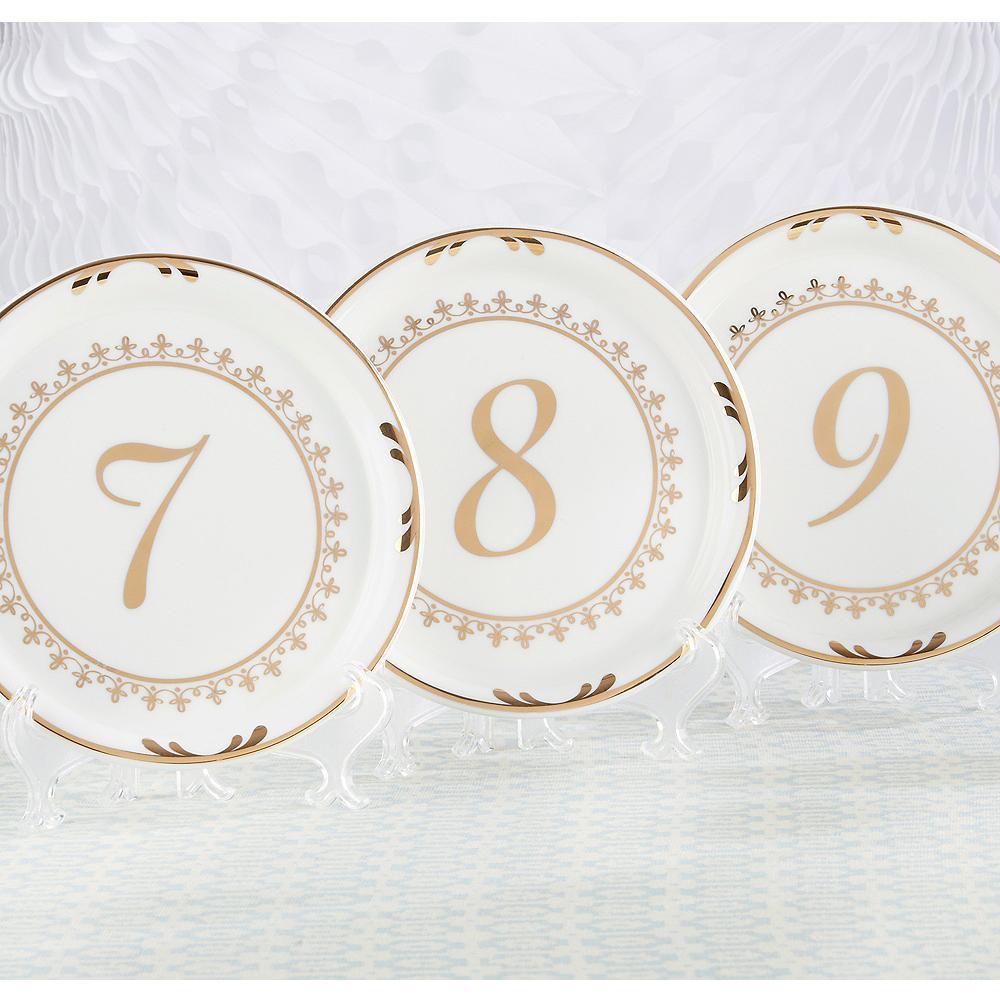 Tea Time Plate Table Numbers 7-12 Image #1