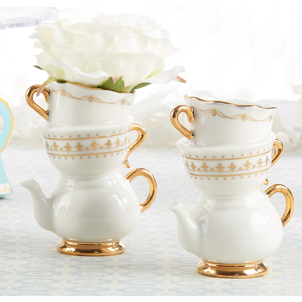 Tea Time Teapot Vase 3in x 3 3/4in | Party City